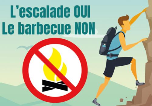 Interdiction de barbecue au site d'escalade de Riverie