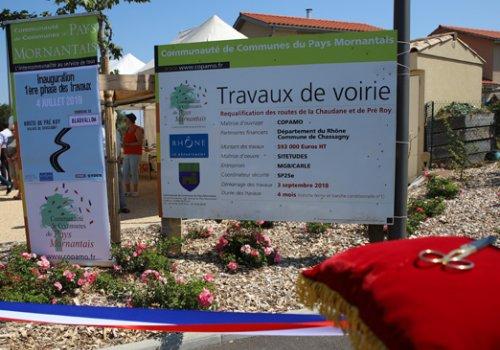 Inauguration de la route du Pré Roy