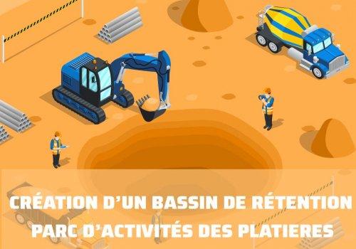 Parc d'activités des Platières : création d'un bassin de rétention des eaux pluviales